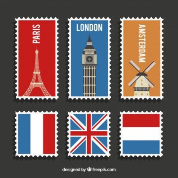 Free vector Variety of post stamps of different countries #8638