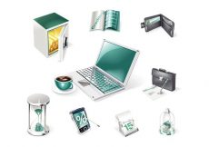 Free vector 3D Financial and Business Web Icons #4430