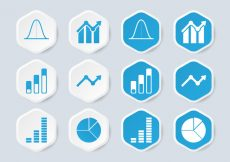 Free vector Bell Curve Infographic Icon #4990