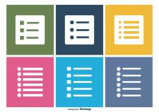 Free vector Bullet Point Icon Set #9773