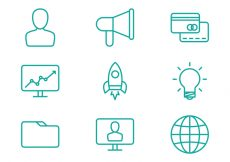 Free vector Business Line Icons #6673