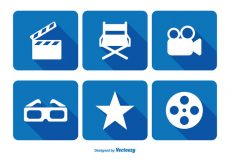 Free vector Cinema Related Icon Set #4378