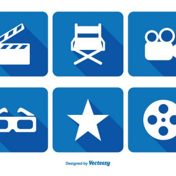 Free vector Cinema Related Icon Set #9461