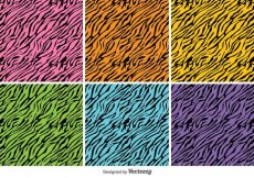 Free vector Vector Colorful Tiger Stripes Background Set #10989