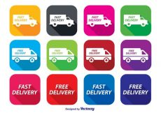 Free vector Fast Delivery Icon Set #7213