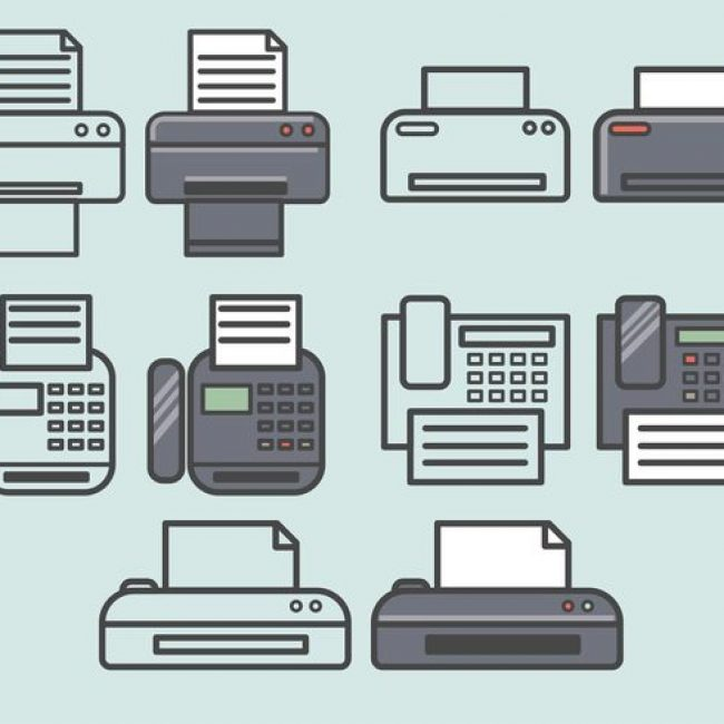 Free vector Vector Fax Icons Set #3974