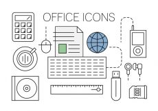 Free vector Free Office Icons #5268