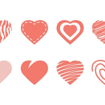 Free vector Heart Icon Collection #8649