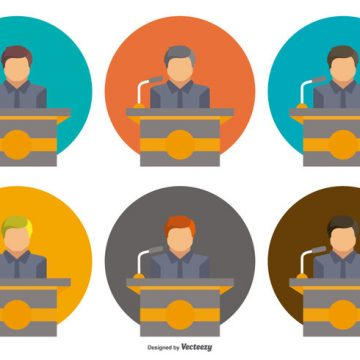 Free vector Lectern Icon in Assorted Colors #7499