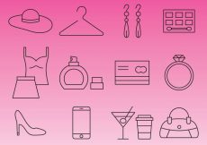Free vector Line Shopping Icons #9521