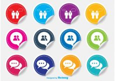 Free vector Live Chat Sticker Icons #8263