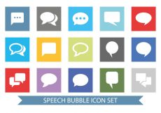 Free vector Message Bubble Icon Set #3983
