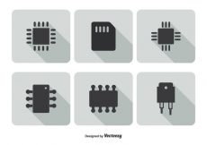 Free vector Microchip Icon Set #6567