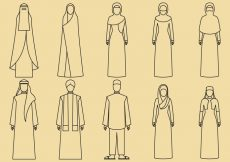 Free vector Middle East Clothes Icons #5126
