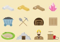 Free vector Vector Miner Icons #6389