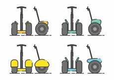 Free vector Minimalist Segway Icon Set #6569