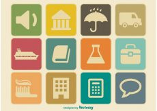 Free vector Miscellaneous Vintage Icon Set #9759