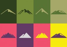 Free vector Mountain Logo Set #8126