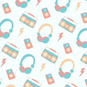 Free vector Pastel Music Head Phone Background #8527