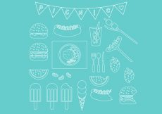 Free vector Picnic Line Icon Set #6627