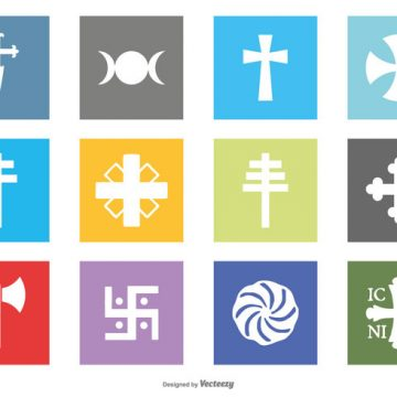 Free vector Religion Symbol Icon Collection #4586