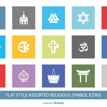 Free vector Religious Symbol Icon Set #8855