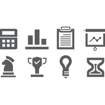 Free vector Set of business icons #9661