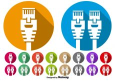 Free vector Vector Set Of Ethernet Port Icon Buttons #4260