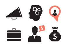 Free vector Set of Various Business Icons #7982