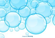 Free vector Vector Soap Blue Bubbles Background #11041