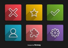 Free vector Square Minimal UI Buttons #5552