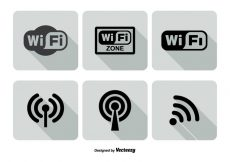 Free vector Wifi Logo Icon Set #4787