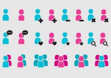 Free vector Woman And Man App Icons #7300