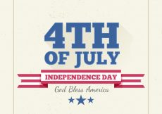 Free vector Vintage background for usa independence day #9217