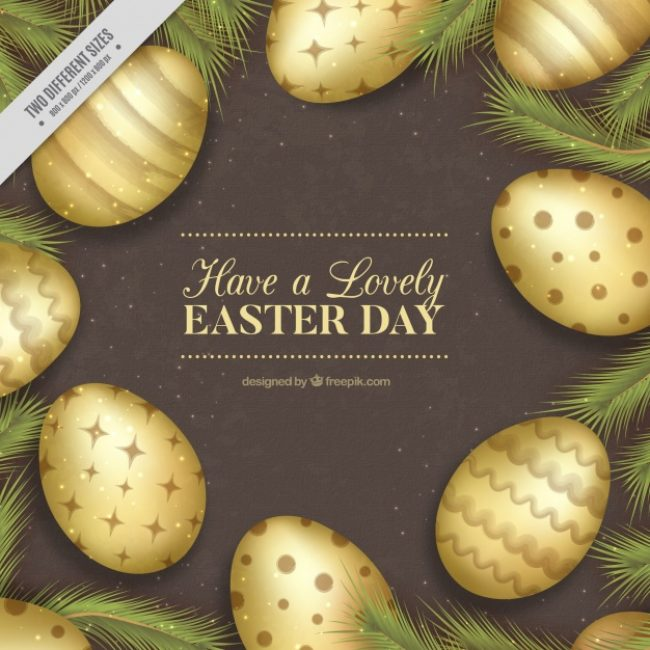 Free vector Vintage background of various easter eggs #10832