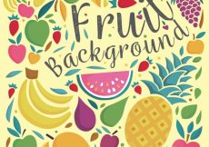 Free vector Vintage fruit decorative background #10678