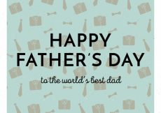 Free vector Vintage happy father's day background #6104