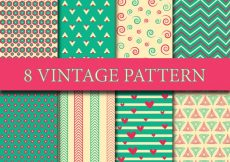 Free vector Vintage pattern collection #7570