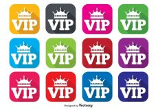 Free vector VIP Flat Icon Set #7191