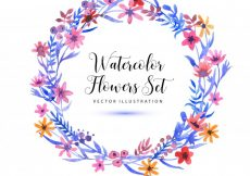 Free vector Watercolor floral wreath background #7506