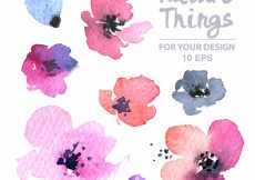 Free vector Watercolor flowers collection #7234