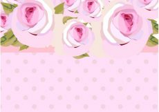 Free vector Watercolor roses background #5897