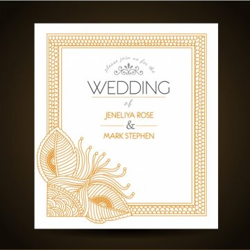 Free vector Wedding invitation template #8862