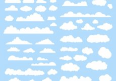 Free vector White clouds collection #8976