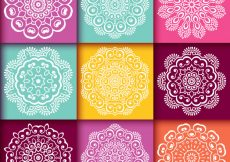 Free vector White mandalas collection #7829