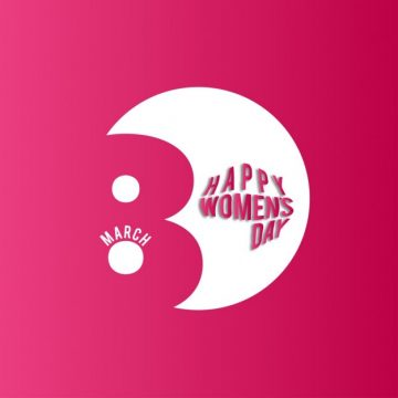 Free vector Women's day, red background #11605