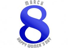 Free vector Women's day, white and blue background #11609