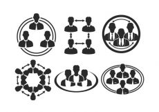 Free vector Working Together Icon Vector Set #8879