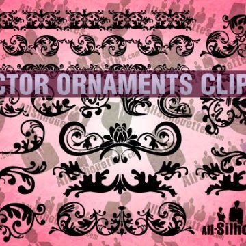 Free vector 18 Vector Ornaments Clipart #16072