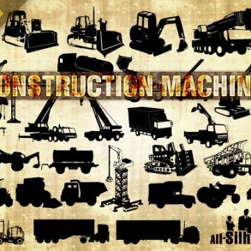 Free vector 38 Vector Construction Machines #16007